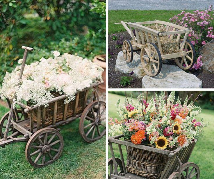Don't Miss this Wedding Season Trend: The Wedding Wagon!: Flowers