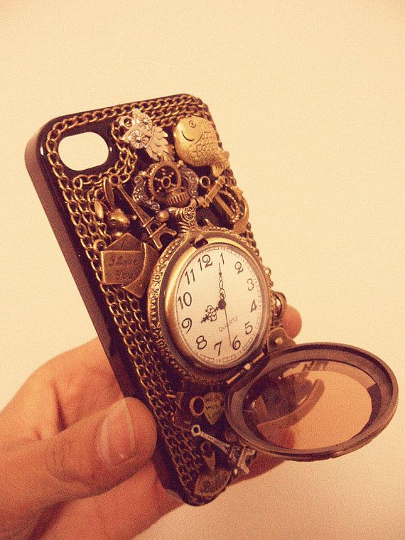 19 Crazy, Cute, and Creative iPhone cases @rileymcg look it's a pocket watch!