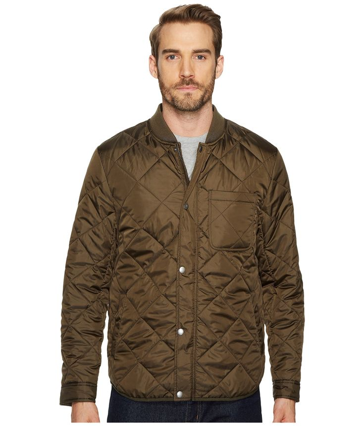 COLE HAAN Transitional Quilted Nylon Jacket with Rib Knit Collar. #colehaan #cloth #
