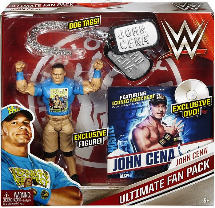 WWE Superstar John Cena. Includes dog tags and exclusive DVD.