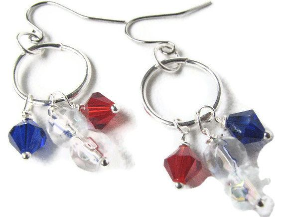 88 best diy patriotic red white and blue 4th of july independence beaded earrings red white and blue jewelry make some today get your diy earring solutioingenieria Images