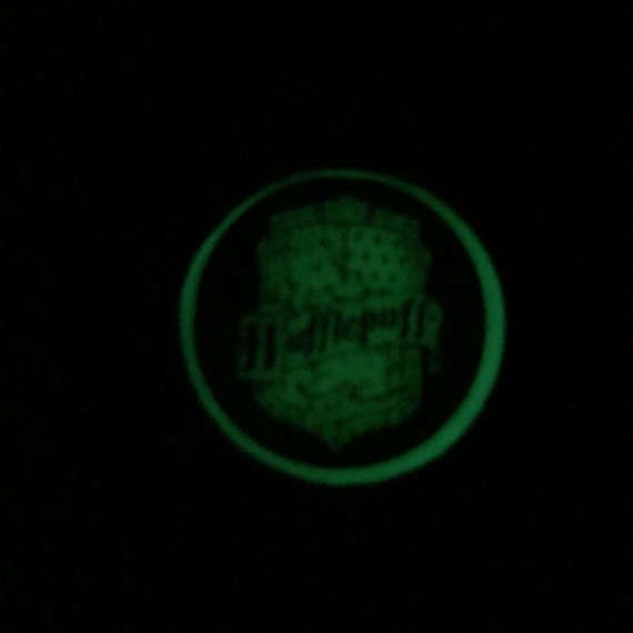 Glow in the Dark Harry Potter Hogwarts House Crest by FonkyFox