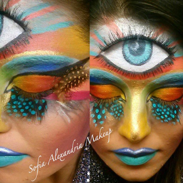 Third eye makeup by sofia alexandria painted faces pinterest