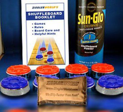 Large Size Table Shuffleboard Puck Weights Powdered Wax