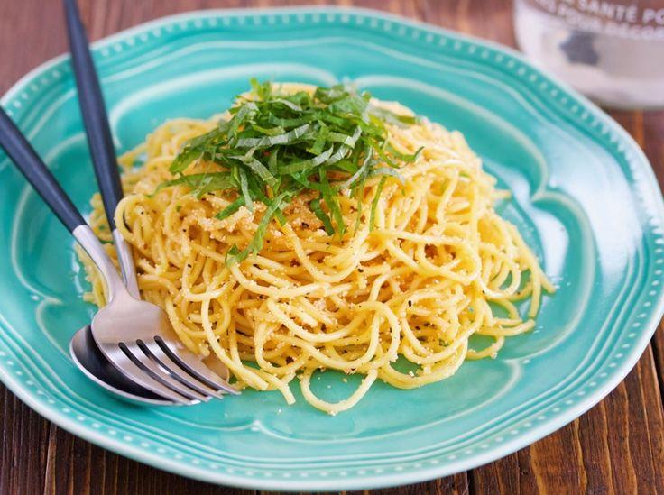 【チート技】パスタを食べたいけど、お湯が沸くまで待てない時の「明太子パスタ」【フライパン1枚で】