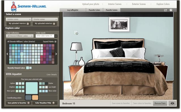 Sherwin Williams Color Visualizer - works on furniture to help you pick out colors before you buy any paint