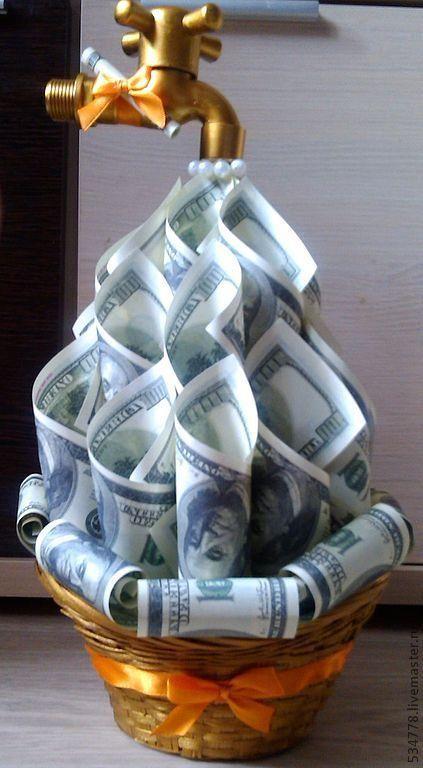 Как красиво вложить деньги в открытку