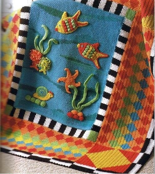 Fancy Crochet Baby Blanket Love this for the girls room when I repaint great blend of color