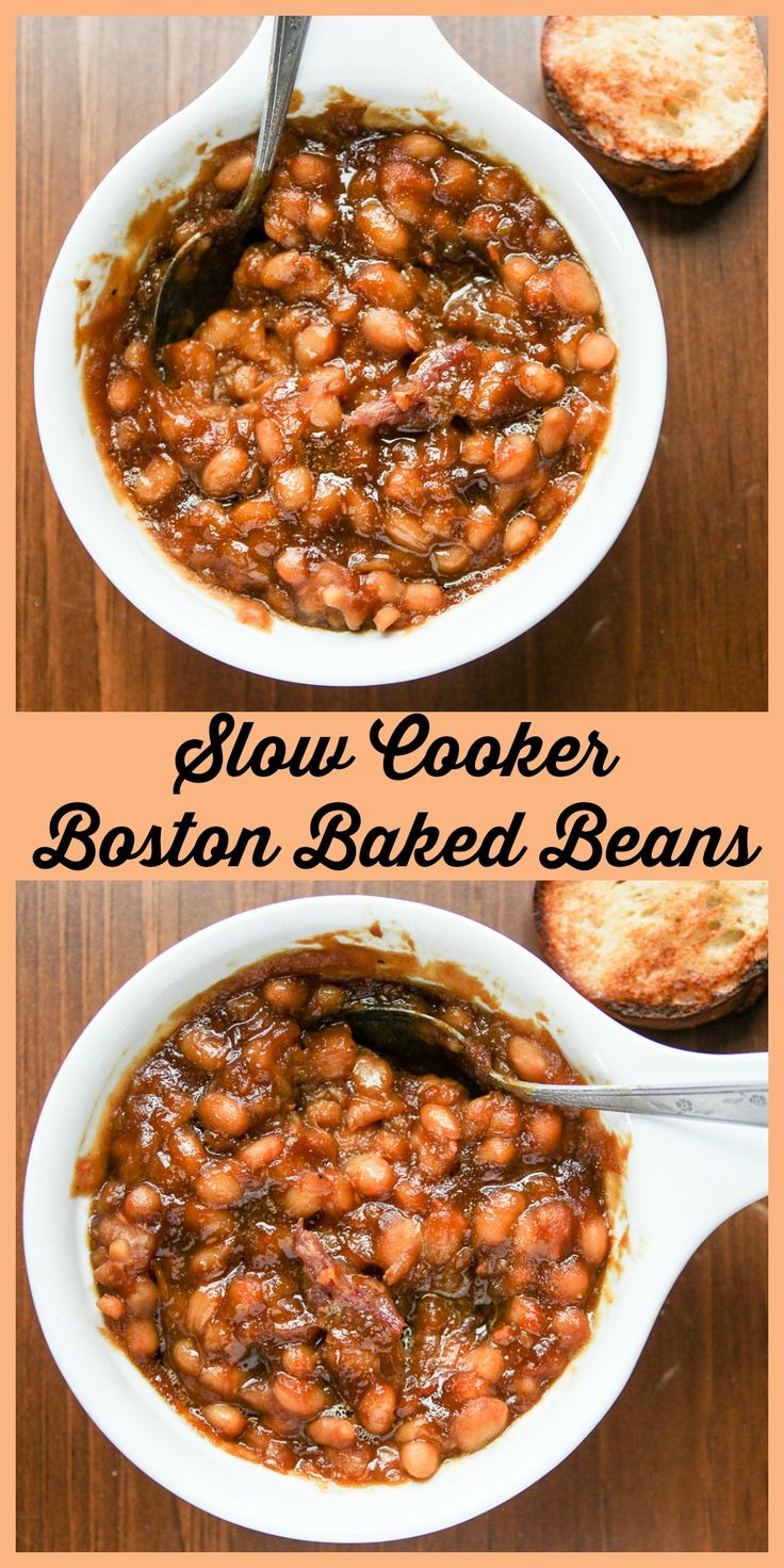 The slow cooker is perfect for cooking these delicious beans.