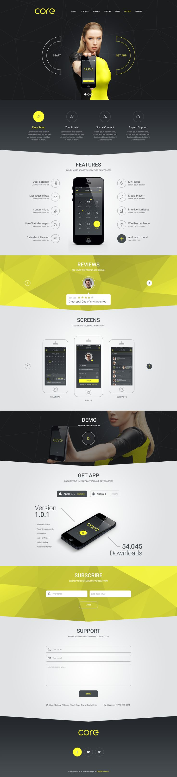 PSD available on ThemeForesthttp://themeforest.net/item/core-mobile-app-landing-psd-theme/8504932