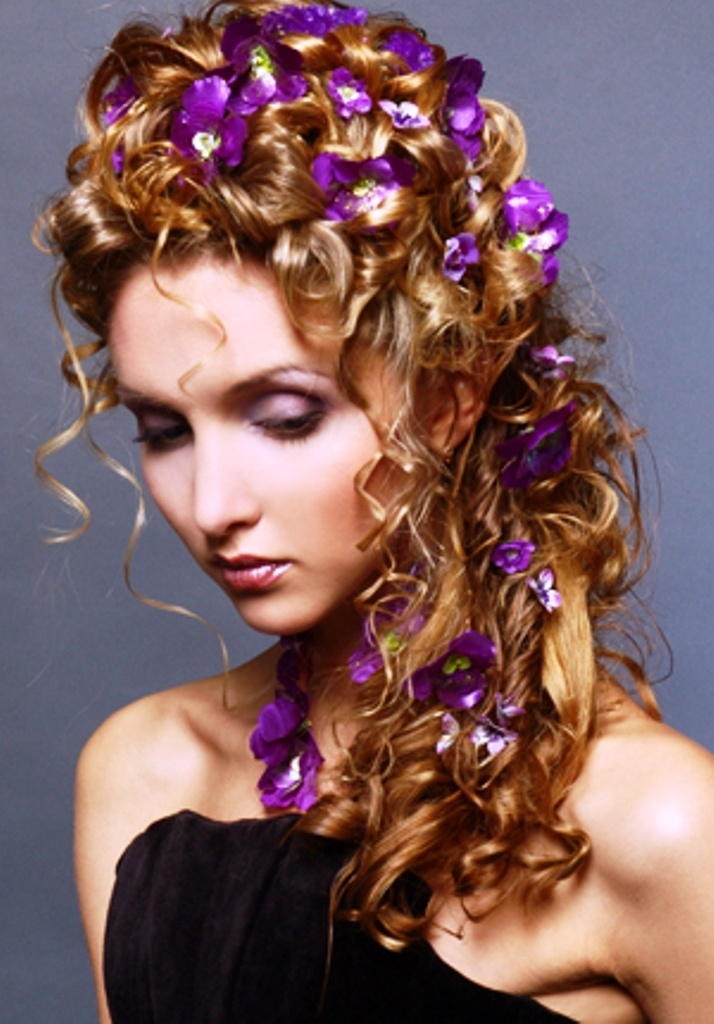 222 Best Hairstyles With Flowers Images On Pinterest