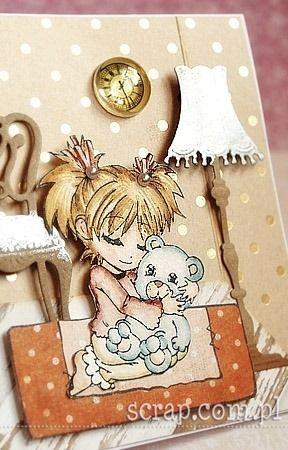 girl with bear   http://www.hurt.scrap.com.pl/pojedynczy-stempel-gumowy-dziewczynka-z-misiem.html