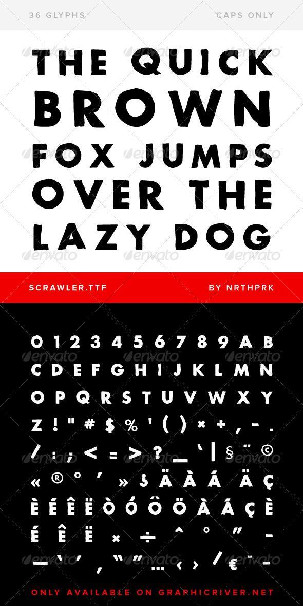 Scrawler TrueType Font - Download…