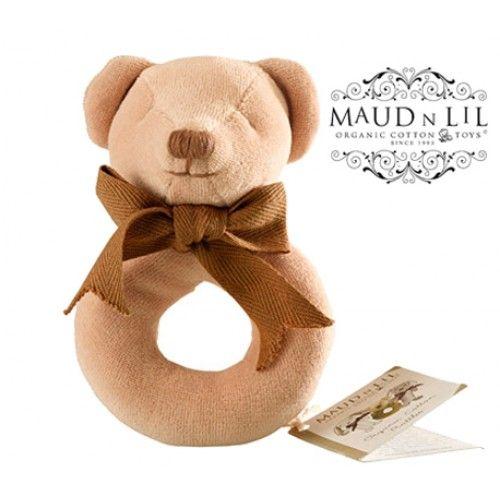 Maud n Lil Organic Teddy Ring Rattle