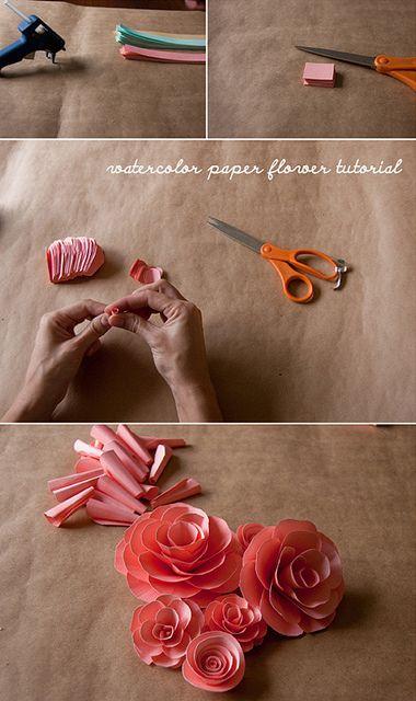 Paper flower DIY tutorial