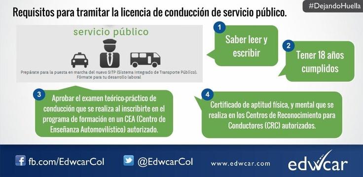 Licencia de conducción servicio público