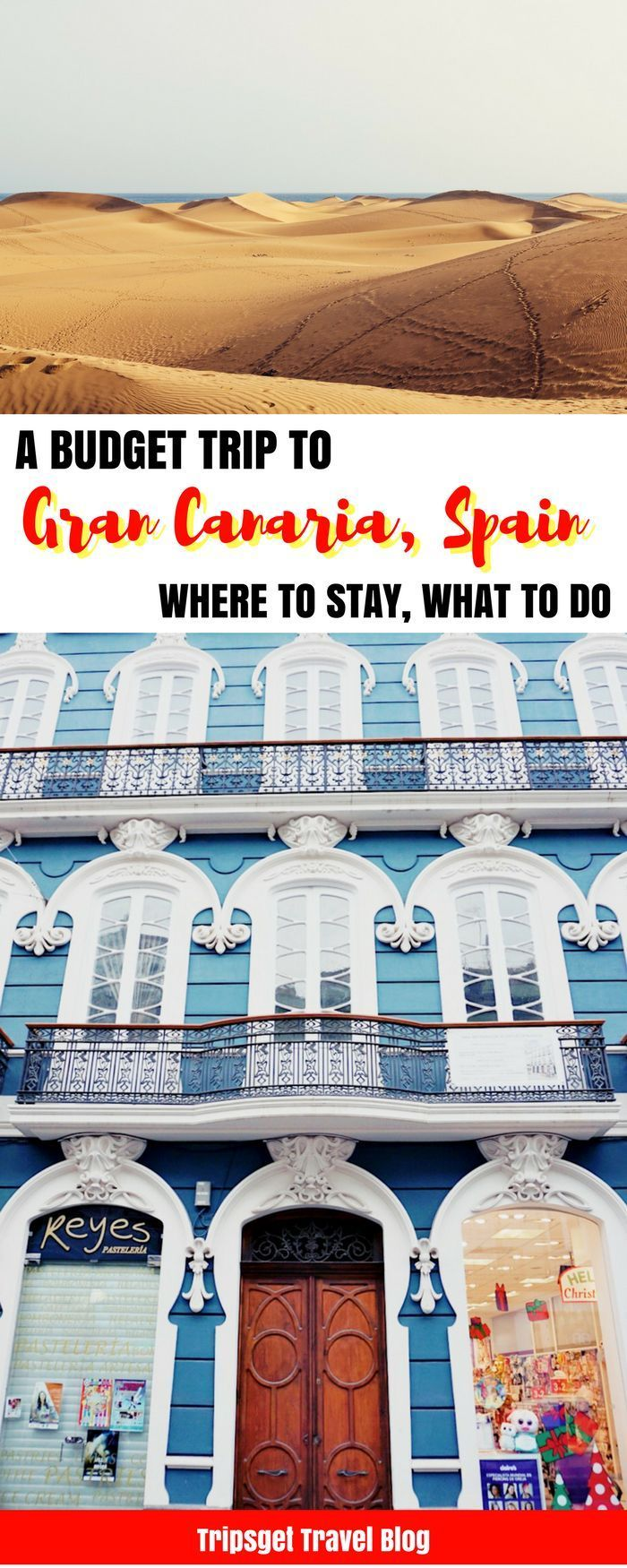 A budget weekend trip to Gran Canaria, Canary Islands, Spain in November. Gran Canaria in Autumn. Las Palmas. Sand Dunes Gran Canaria, Maspalomas