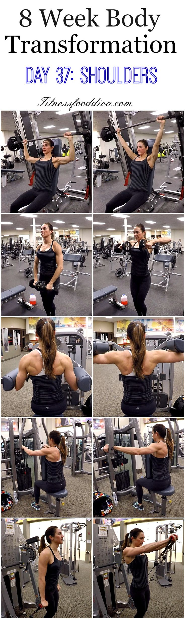 8 Week Body Transformation: Day 37 Shoulders.