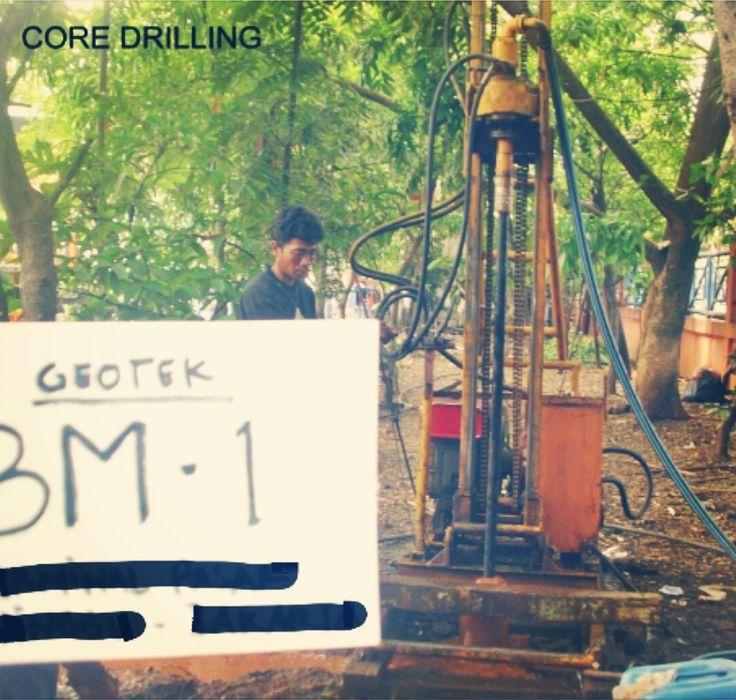 Core Drilling Pasar Minggu Jakarta ,Indonesia . Soil investigation for high rise building plan.