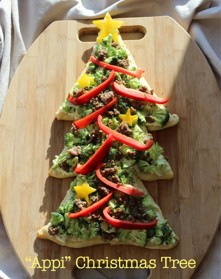 What appetizer does any Christmas celebration need? An edible Christmas tree of course! This croissant based tree blends the delicious mild flavor of blue cheese with traditional breakfast and vegetable additives. In short, it's the perfect breakfast, lunch, or dinner party appetizer!