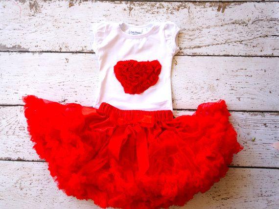 Baby Valentine outfit Valentine Tutu Valentine by PoshPeanutKids, $42.99