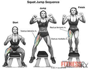 Squat Jumps - Lower Body and Calorie Blast