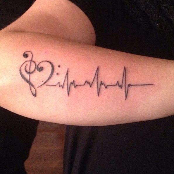 Best 25+ Lifeline tattoos ideas on Pinterest | Heartbeat tattoos ...