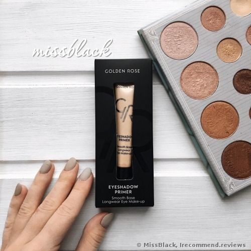 Golden Rose Smooth Base Longwear Eye Make-up Primer review: 'An awesome eyeshadow primer for such an affordable price! Epic staying power: 12 hours on oily eyelids.'