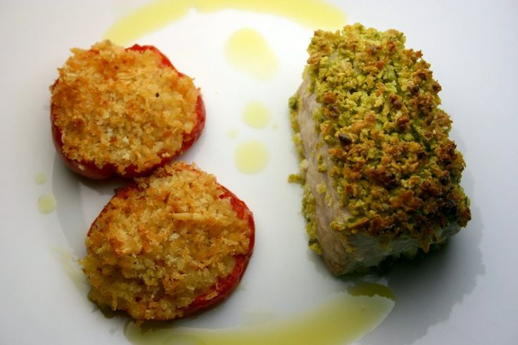 Filetto di ricciola al forno con pistacchi