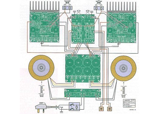 high end power amplifier wiring diagram power amplifier circuit diagram