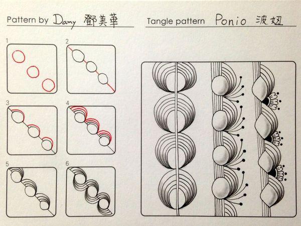 禪繞畫圖案設計Zentangle pattern - Ponio 波妞 @ damy的快樂隨意作 :: 痞客邦 PIXNET ::