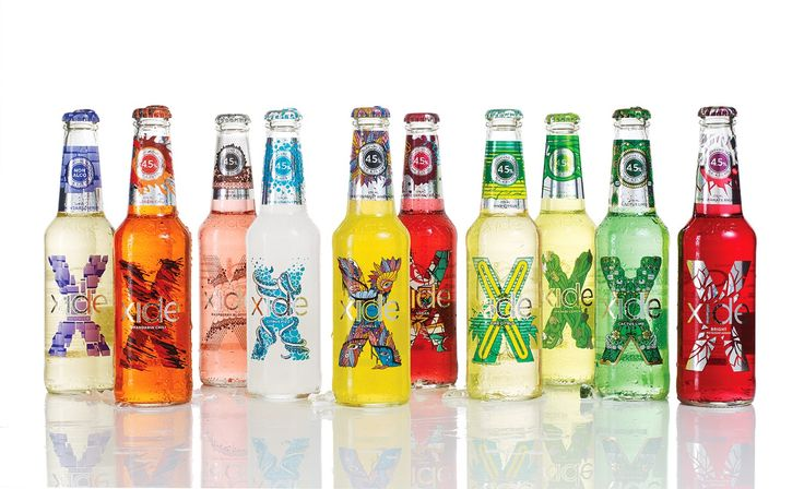 Xide. Designed by Nine. Do you like this alcoholic mixed RTD beverage #packaging PD