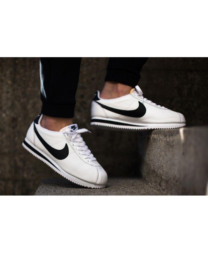 size 40 1d177 64f71 Nike Cortez Trainers In Nylon White Black