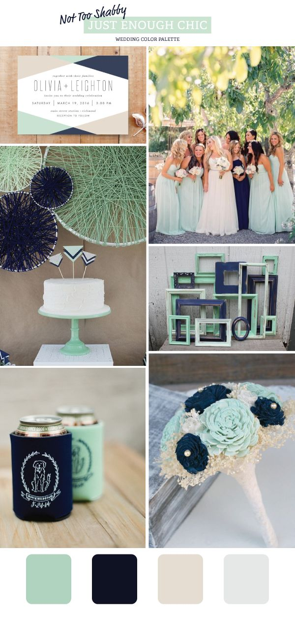 Not Too Shabby Wedding Color Palette