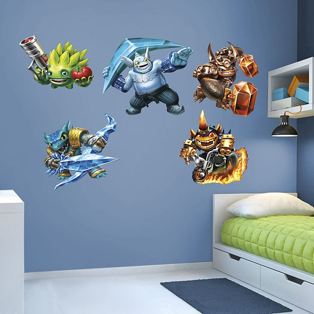 Skylanders Trap Team Collection REAL.BIG. Fathead – Peel & Stick Wall Graphic. Perfect for any bedroom, nursery, or even playroom.