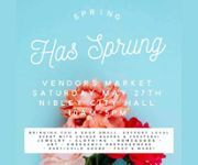 Spring has Sprung Vendors Market - May 27, 2017 10 am - Nibley City Hall - 455 W 3200 S Nibley, UT. We are bringing you a fun filled and care free day filled with unique vendors and must haves! It's a shop small and support local event where we want to show some love to all those who work hard at their business, are passionate about what they create and want to share it all with YOU! So grab your friends, pack up the fam and come out to see for yourself!