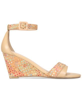 Impo Vandy Two-Piece Wedge Sandals - Tan/Beige 8.5M