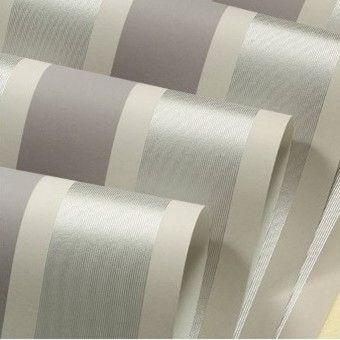 Barato cinza listras prata papel de parede rolo moderno for Papel barato pared