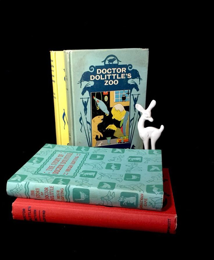 Doctor Doolittle Book Set/The Story of Dr. Dolittle/ Dr. Dolittle's Return/Dr. Dolittle's Zoo/Dr. Dolittle and the Green Canary by TTLGFurnishings on Etsy