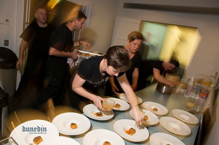 Caterers hard at work #BehindTheScenes #Dunedin #DunnerStunner Venue: Otago Museum HD Skinner Annex  Catering: Otago Polytechnic Food Design Institute Themeing: Visual Effects