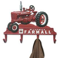 Farmall Tractor Cast Iron Coat Rack