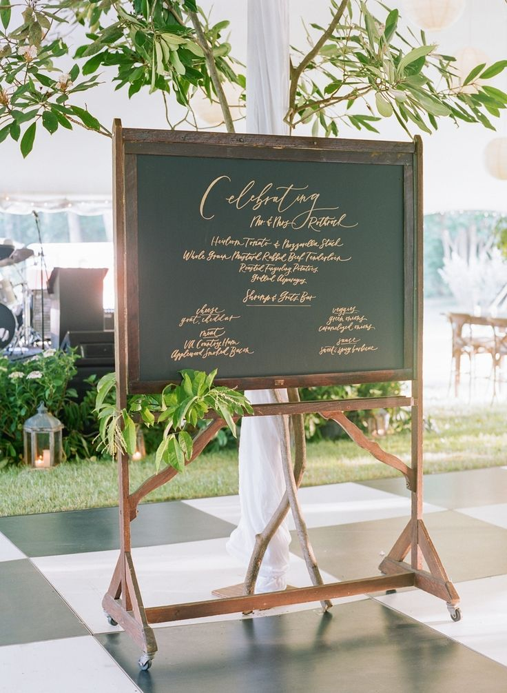 Wooden framed chalkboard wedding sign: Photography: Jodi and Kurt - http://www.jodiandkurt.com/