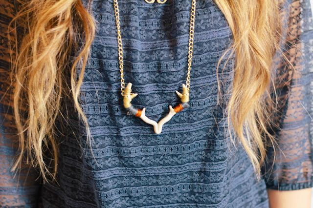 "Antler Necklace | DIY- NOTE: THIS IS THE LAST NECKLACE I WILL BE PINNING ON THIS BOARD SEE MY ""DIY ACCESSORIES"" BOARD FOR MORE"