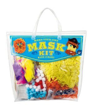 MindWare's Make Your Own Mask Kit by MindWare. $15.47. Ages 6 and up. Over 200 pieces in all. Includes ten sturdy mask forms with elastic cords, double-stick tape, pompoms, jewels and fringed paper, plus ready-to-decorate cutouts of hats, glasses, funny lips and more. Pair with MindWare's Set of 24 markers for a day of fun. Perfect for classroom projects, sleep over's and birthday parties. From the Manufacturer                This magical kit turns kids into lions, pirates,...