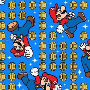 Nintendo Mario Blue Coin Toss - 1/2 yard