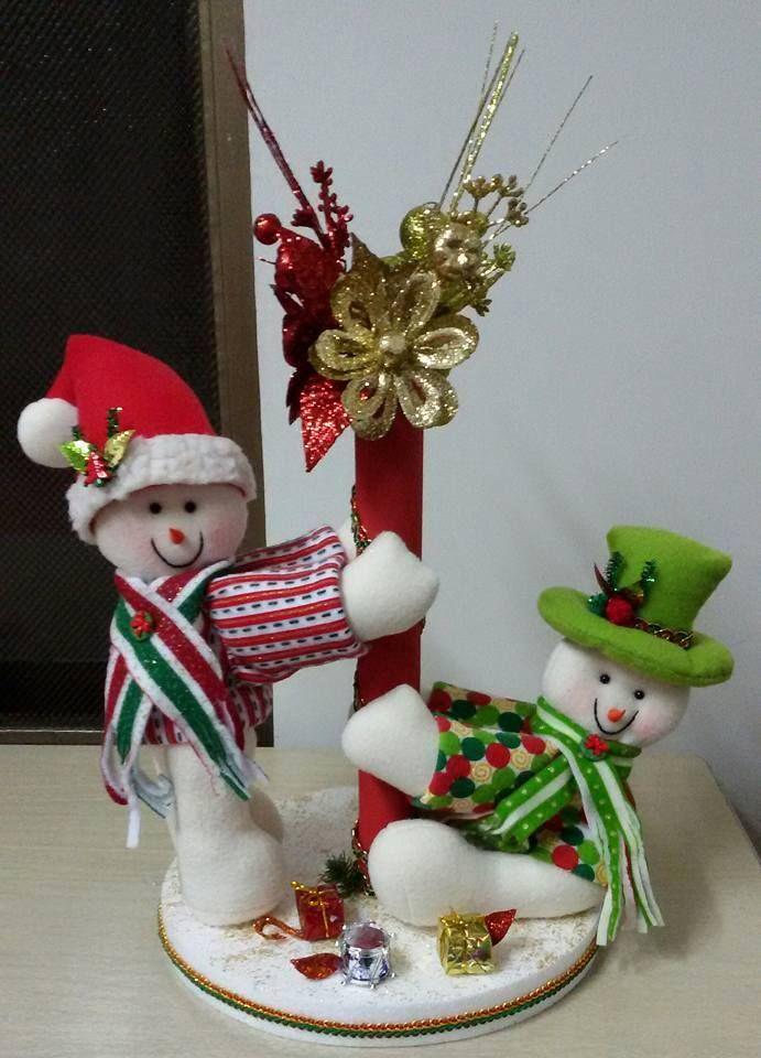 212 mejores im genes de navidad en pinterest adornos - Adornos de mesa navidenos ...