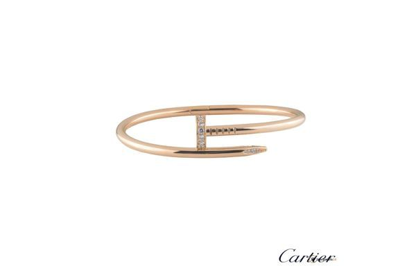 Bangle by Cartier, rose gold, Diamond Juste Un Clou, Armreif, Armband, Trend ROSÈGOLD