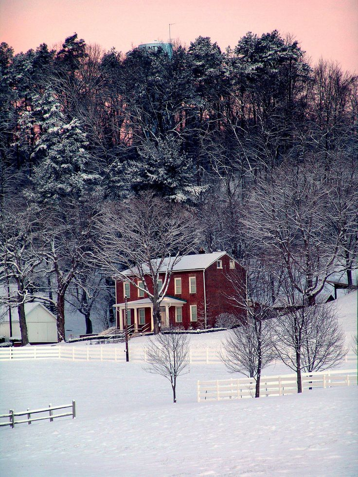 Winter at the Bob Evans Homestead! Beautiful nature