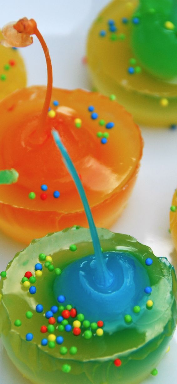 Jello Shots (alcoholic and non-alcoholic).  Don't even think about it Tina - they are mine!  LOL
