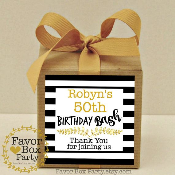 MILESTONE BIRTHDAY PARTY BASH, 40Th Birthday, Over The Hill Birthday Party, 50TH Birthday, Our Party Favor Boxes come with personalized labels and